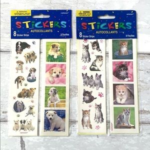 Sticker Packs Kittens Puppies Cats Dogs Set of 2